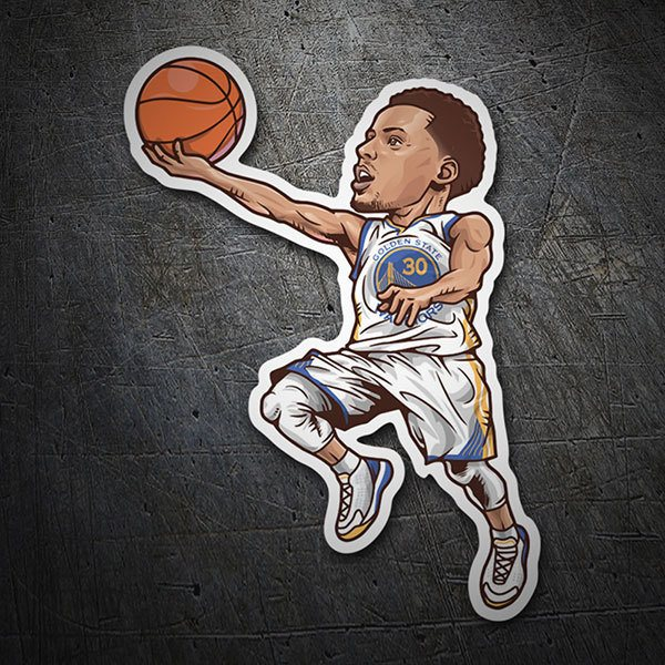 Pegatinas: NBA - Stephen Curry 1