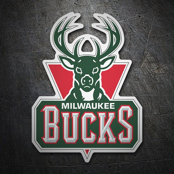 Pegatinas: NBA - Milwaukee Bucks escudo antiguo 1