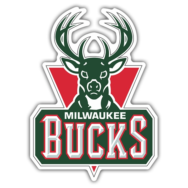 Pegatinas: NBA - Milwaukee Bucks escudo antiguo