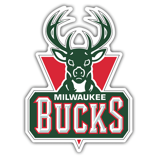 Pegatinas: NBA - Milwaukee Bucks escudo antiguo 0