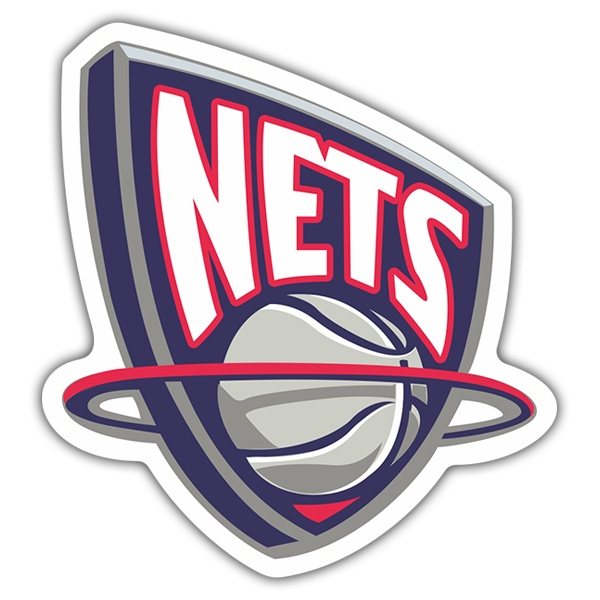 Pegatinas: NBA - New Jersey Nets escudo antiguo