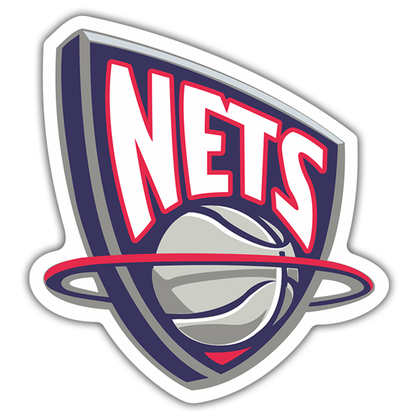 Pegatinas: NBA - New Jersey Nets escudo antiguo 0