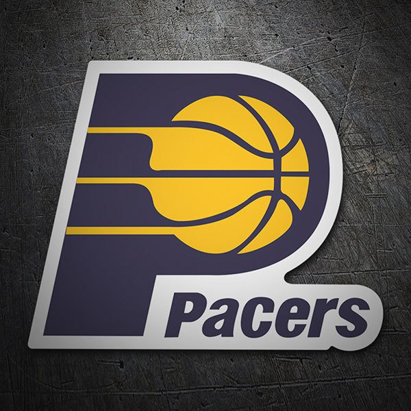 Pegatinas: NBA - Indiana Pacers escudo antiguo