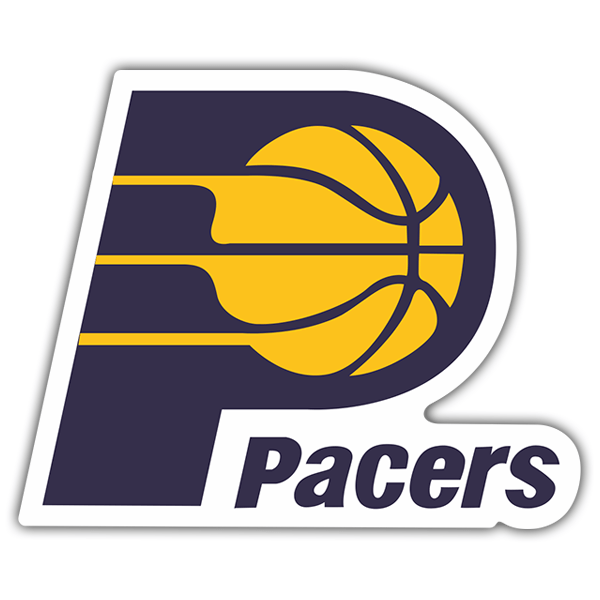 Pegatinas: NBA - Indiana Pacers escudo antiguo 0