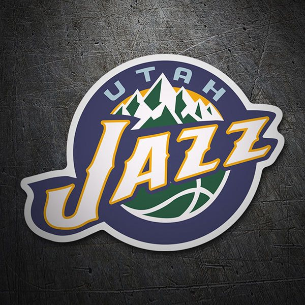 Pegatinas: NBA - Utah Jazz escudo antiguo