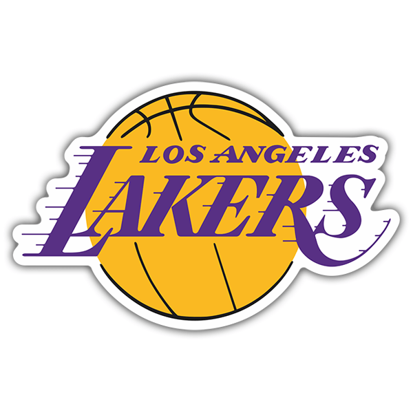 Pegatinas: NBA - Los Angeles Lakers escudo 0