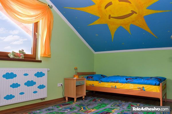 Vinilo decorativo infantil kit de 9 nubes - Pittura x cameretta ...