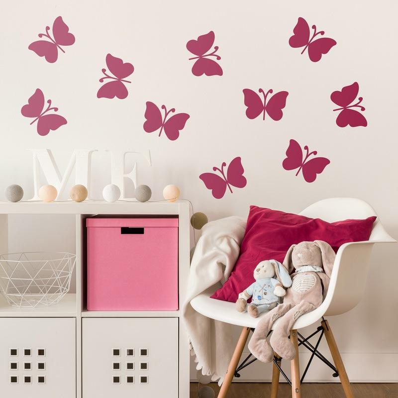 Kit de 10 vinilos de mariposas ceiba for Vinilos decorativos mariposas