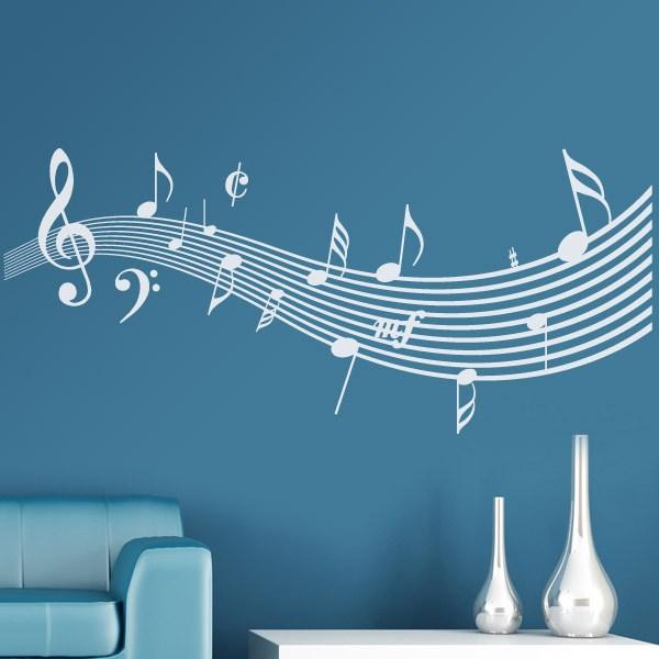 Solfa el pentagrama ondulado for Vinilos decorativos sobre musica
