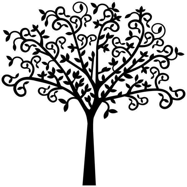 Vinilo Decorativo Silueta árbol Original Teleadhesivocom