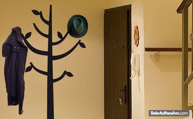 vinilos decorativos rbol en forma de perchero
