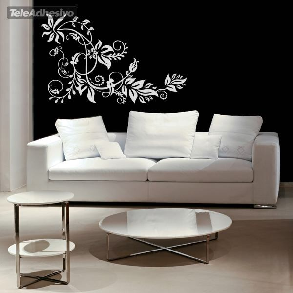 Vinilo decorativo floral tarai for Stickers decorativos para dormitorios