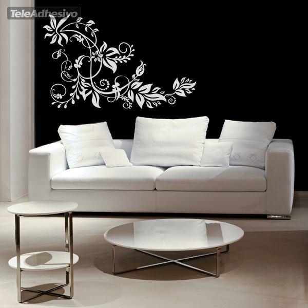 Vinilo decorativo floral tarai for Vinilos decorativos para habitaciones matrimoniales