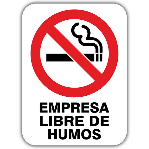 pegatina prohibido fumar en la oficina
