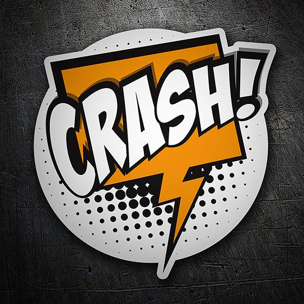 Pegatinas: CRASH! blanco