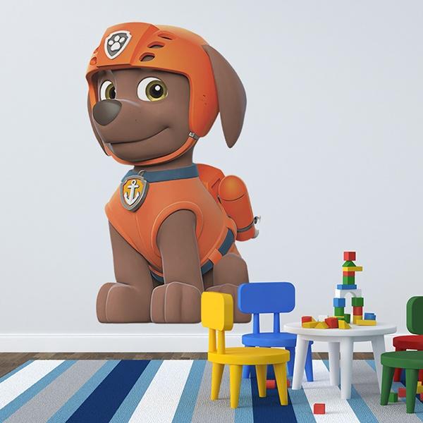 vinilo infantil patrulla canina zuma. Black Bedroom Furniture Sets. Home Design Ideas