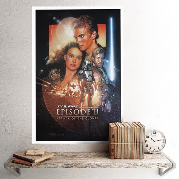 Vinilos Decorativos: Póster adhesivo Star Wars Episodio II