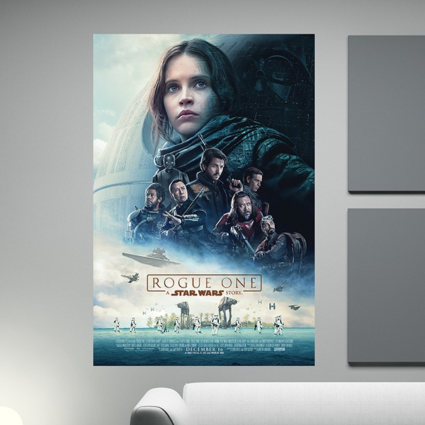 Vinilos Decorativos: Póster adhesivo Star Wars Rogue One
