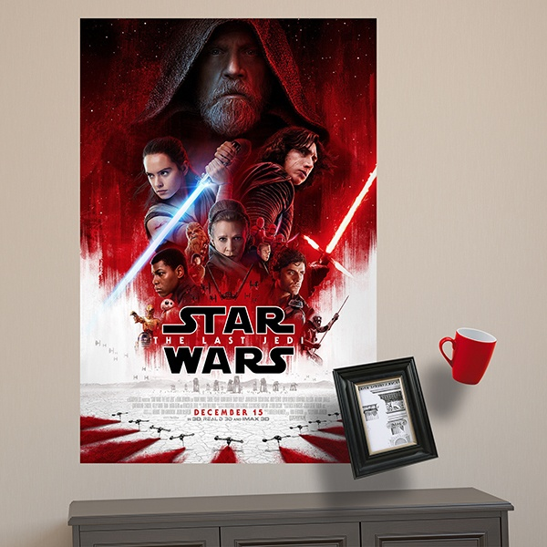 Vinilos Decorativos: Póster adhesivo Star Wars The last Jedi 1