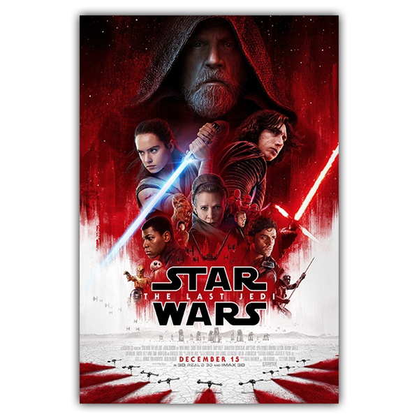 Vinilos Decorativos: Póster adhesivo Star Wars The last Jedi