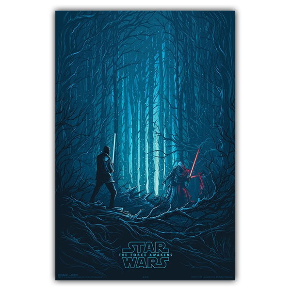 Vinilos Decorativos: Póster adhesivo Star Wars Episodio VII