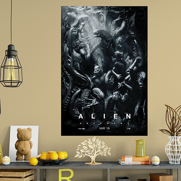 Vinilos Decorativos: Póster adhesivo Alien Covenant 1
