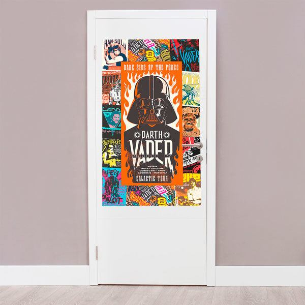 Vinilos Decorativos: Collage personajes de Star Wars