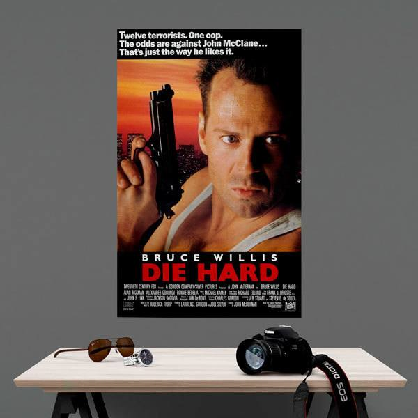 Vinilos Decorativos: Bruce Willis Die Hard 1