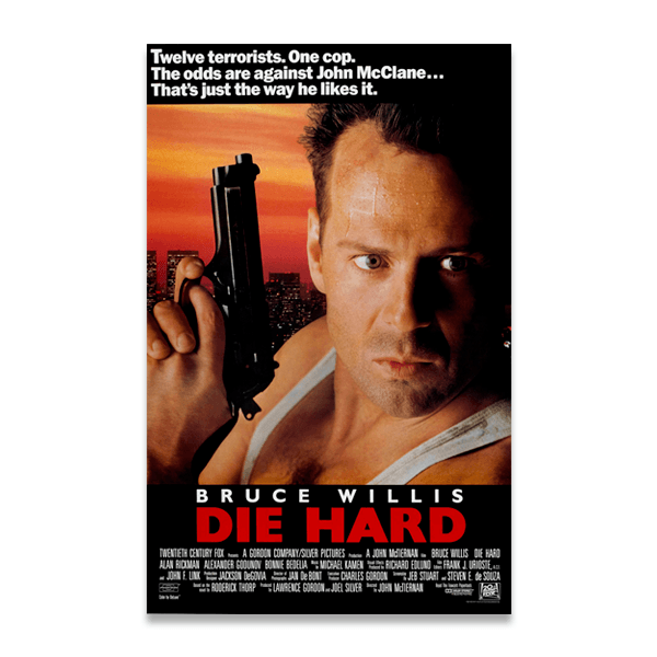 Vinilos Decorativos: Bruce Willis Die Hard 0