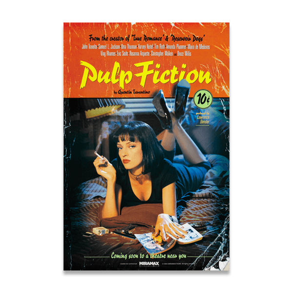 Vinilos Decorativos: Pulp Fiction by Quentin Tarantino 0