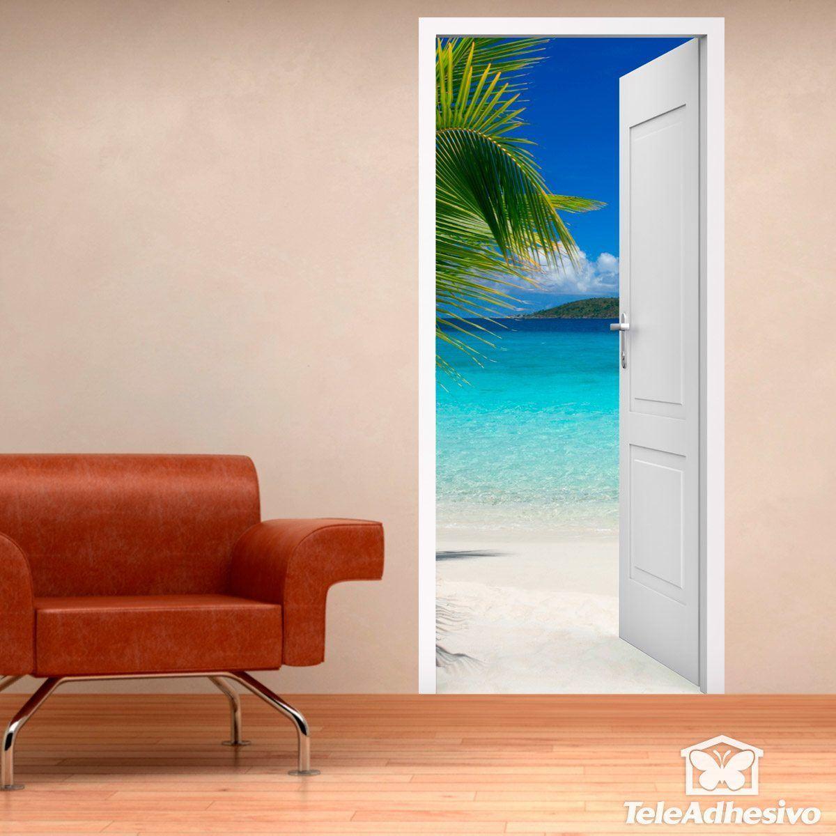 Vinilo puerta al caribe - Vinilos decorativos puertas ...