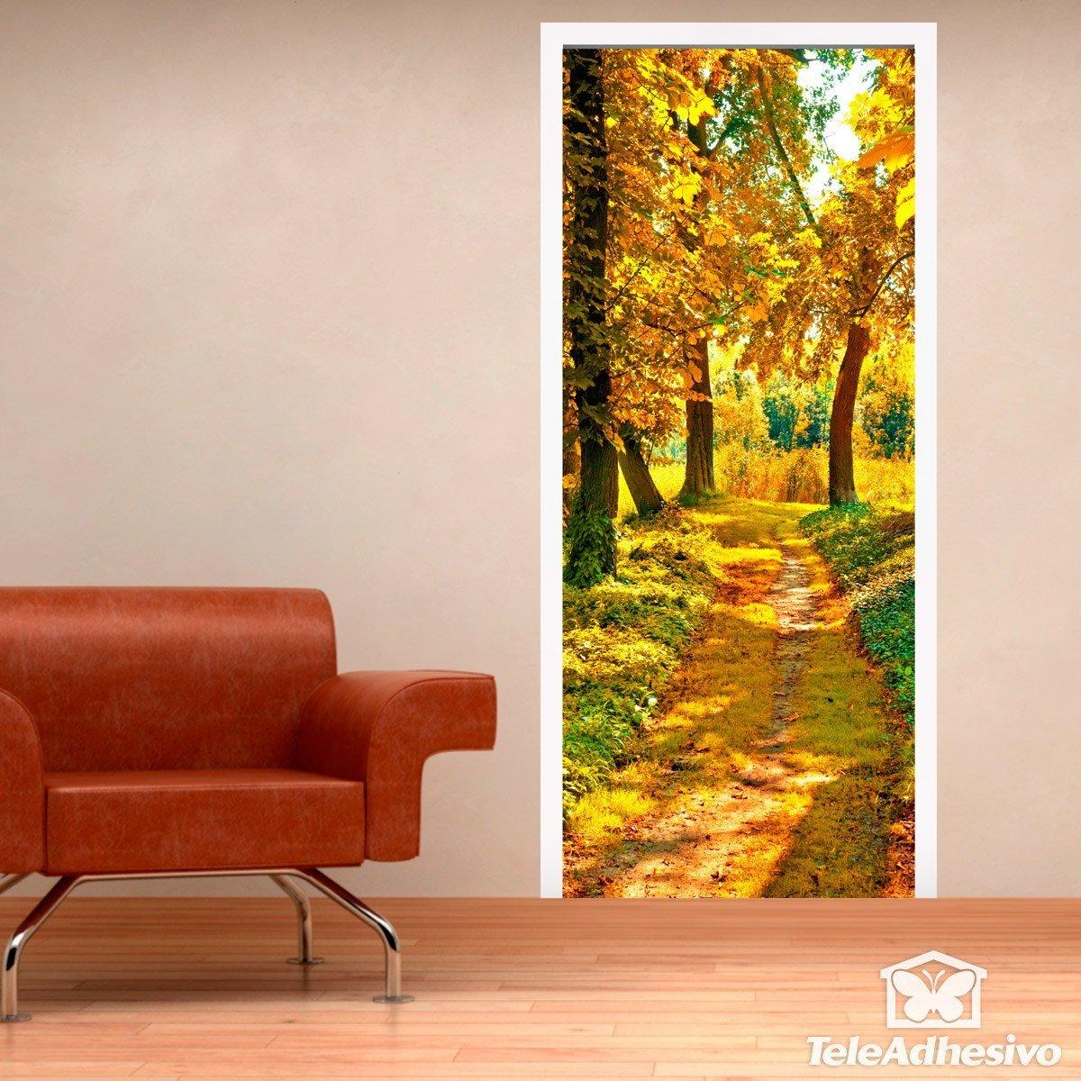 Vinilos de puertas para tu hogar en teleadhesivo for Vinilos decorativos puertas