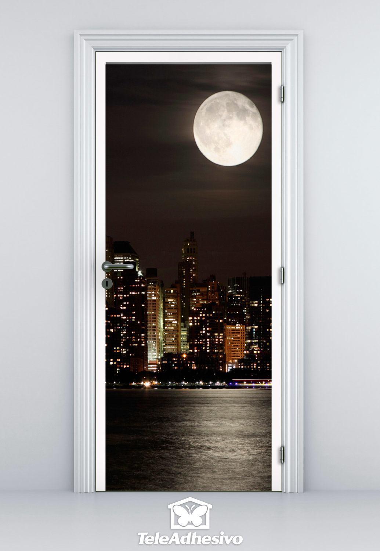Adhesivos de vinilo con vistas de nueva york teleadhesivo - Vinilos en puertas ...