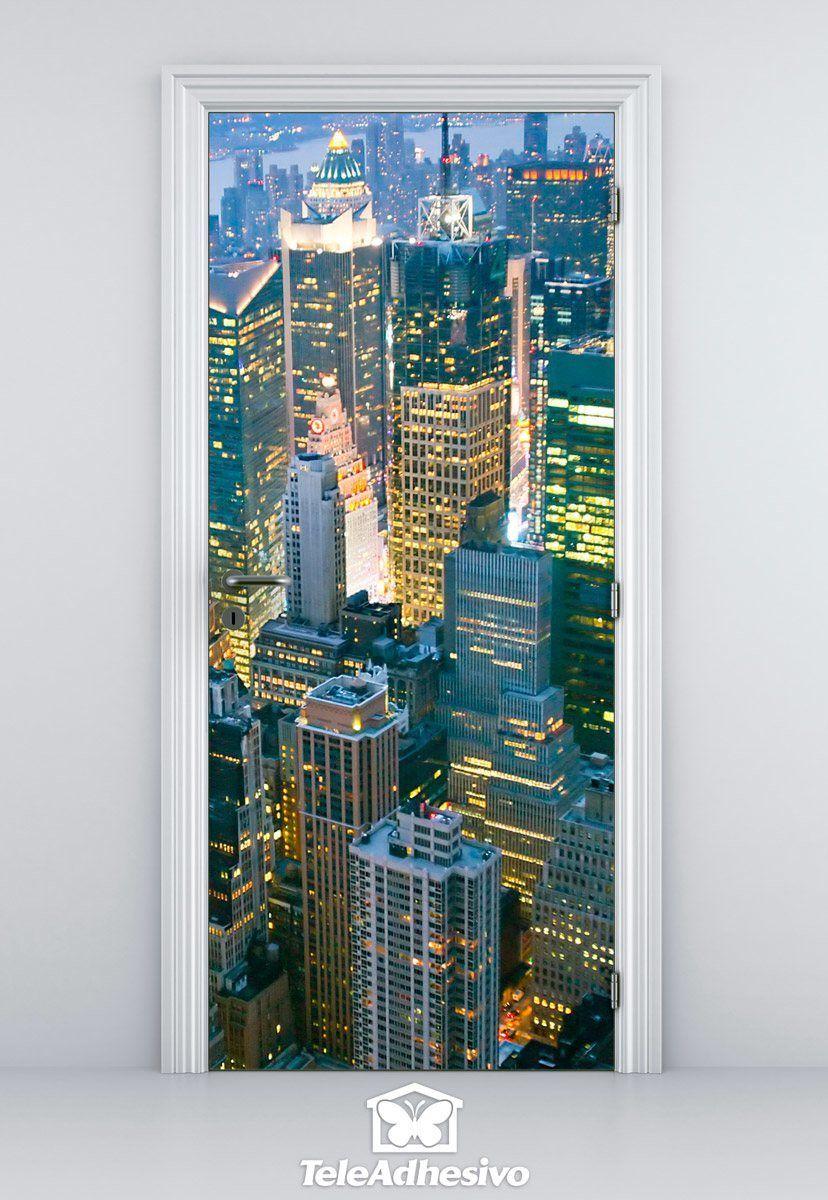 Adhesivos decorativos de nueva york en teleadhesivo for Vinilos pared new york
