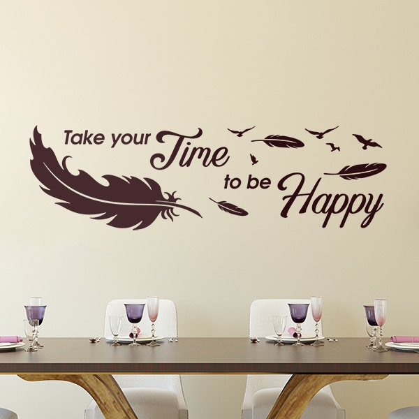 Vinilos Decorativos: Take time to be happy