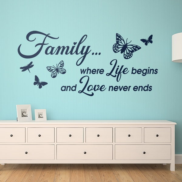 Vinilos Decorativos: Family is where life begins