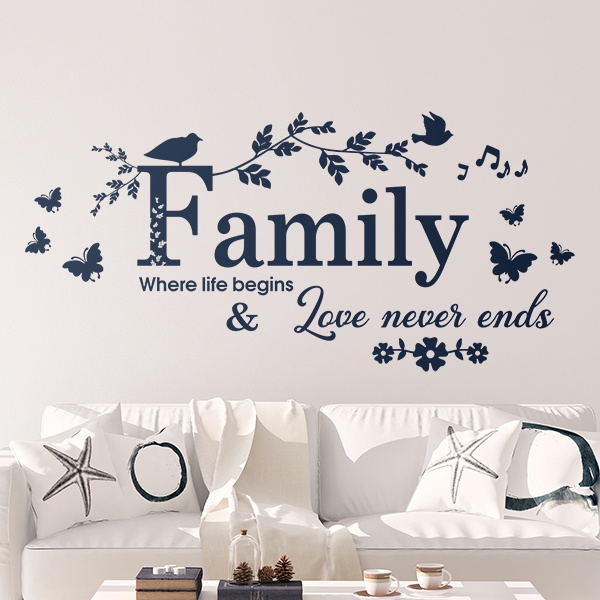 Vinilos Decorativos: Family, where life begins