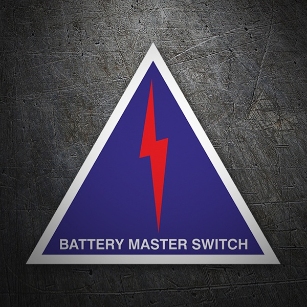 Pegatinas: Battery master switch