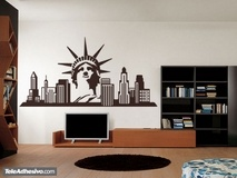 Vinilos Decorativos: New York Skyline 2