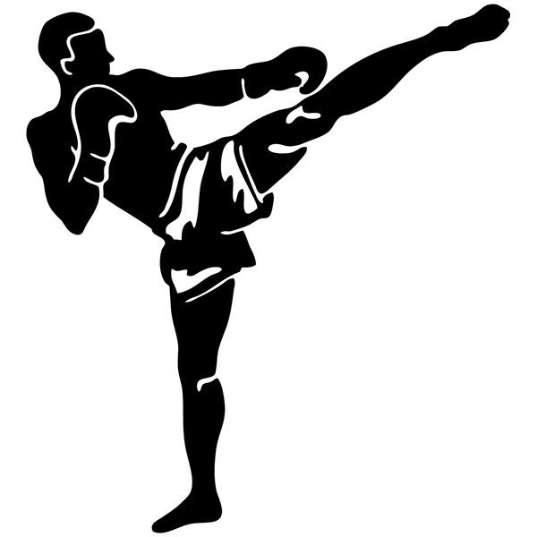 Pegatinas: Kick Boxing Frontal