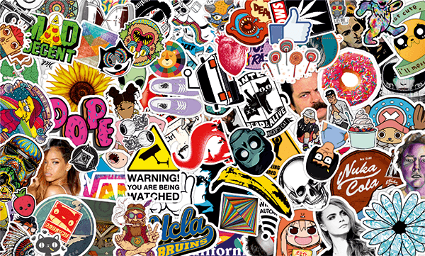 Pegatinas: Sticker Bomb Crazy