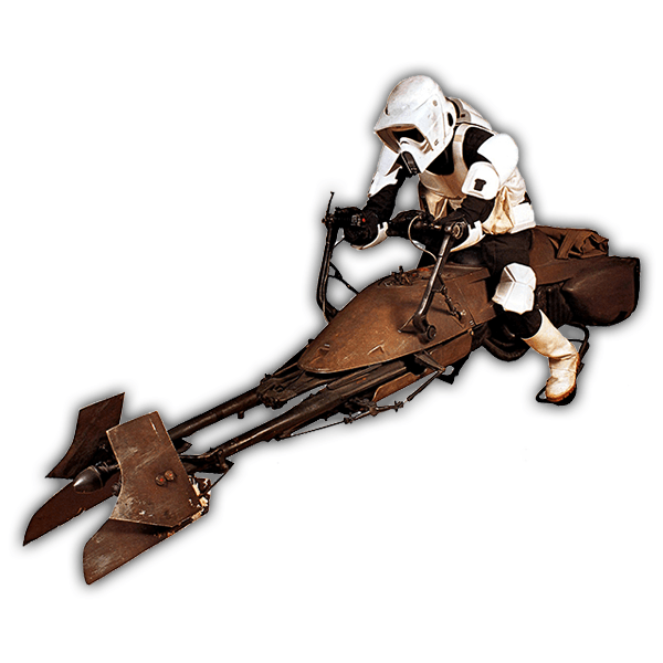 Vinilos Decorativos: Soldado Imperial en Speeder Bike