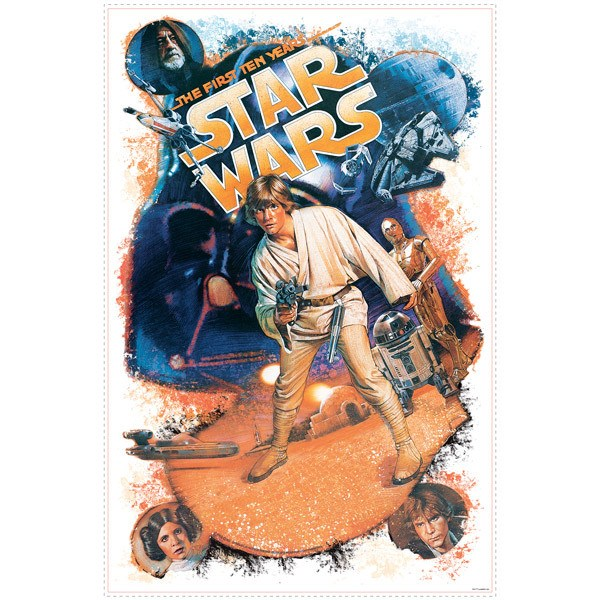 Vinilos Decorativos: Star Wars Retro Luke Skywalker