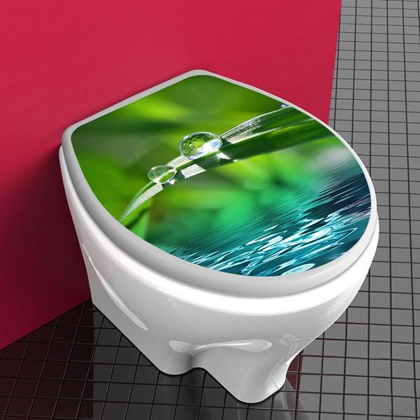 Tapa wc gotas de agua for Wc sin agua