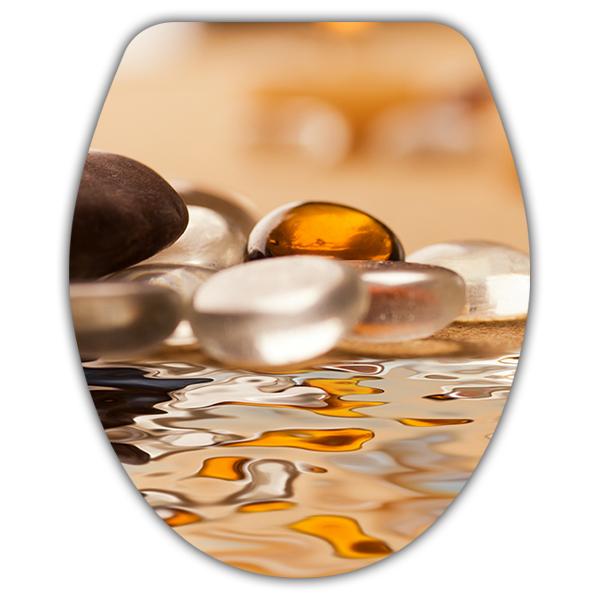 Tapa wc piedras agua zen - Vinilos decorativos zen ...