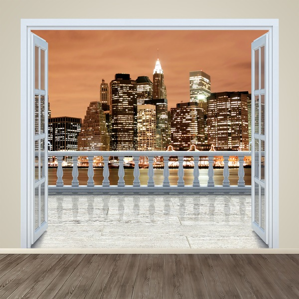 Vinilos Decorativos: Atardecer en New york