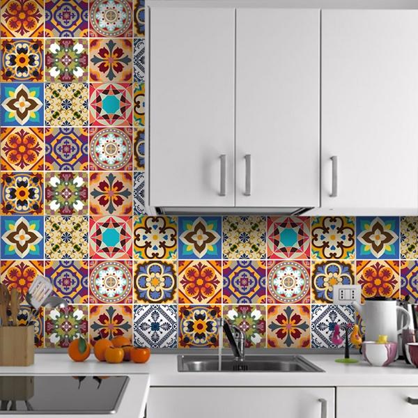 Novedades for Vinilos pared azulejos