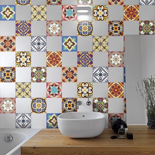 Kit 48 adhesivos azulejos talavera - Vinilos decorativos azulejos ...