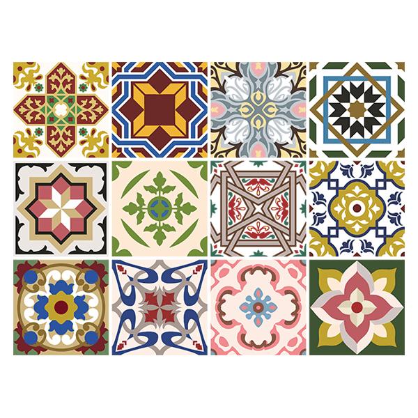kit 48 adhesivos azulejos clasicos