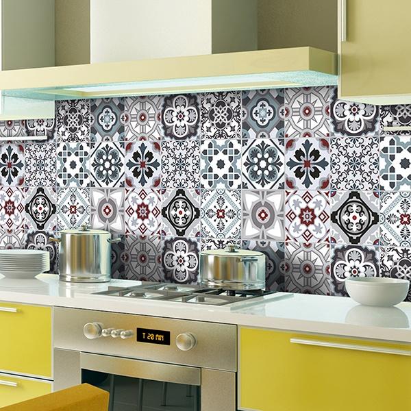 Vinilos de cocina y muebles de cocina Vinilo para azulejos